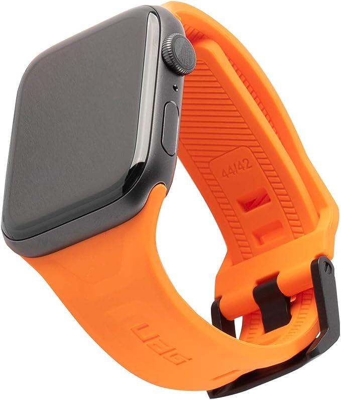 Urban Armor Gear Scout Correa Apple Watch 42mm / 44mm [Watch SE, Series 6 / Series 5 / Series 4 / Series 3 / Series 2 / Series 1, Brazalete sustitución Silicona Blanda, Cierre Acero] Naranja: Amazon.es: Electrónica