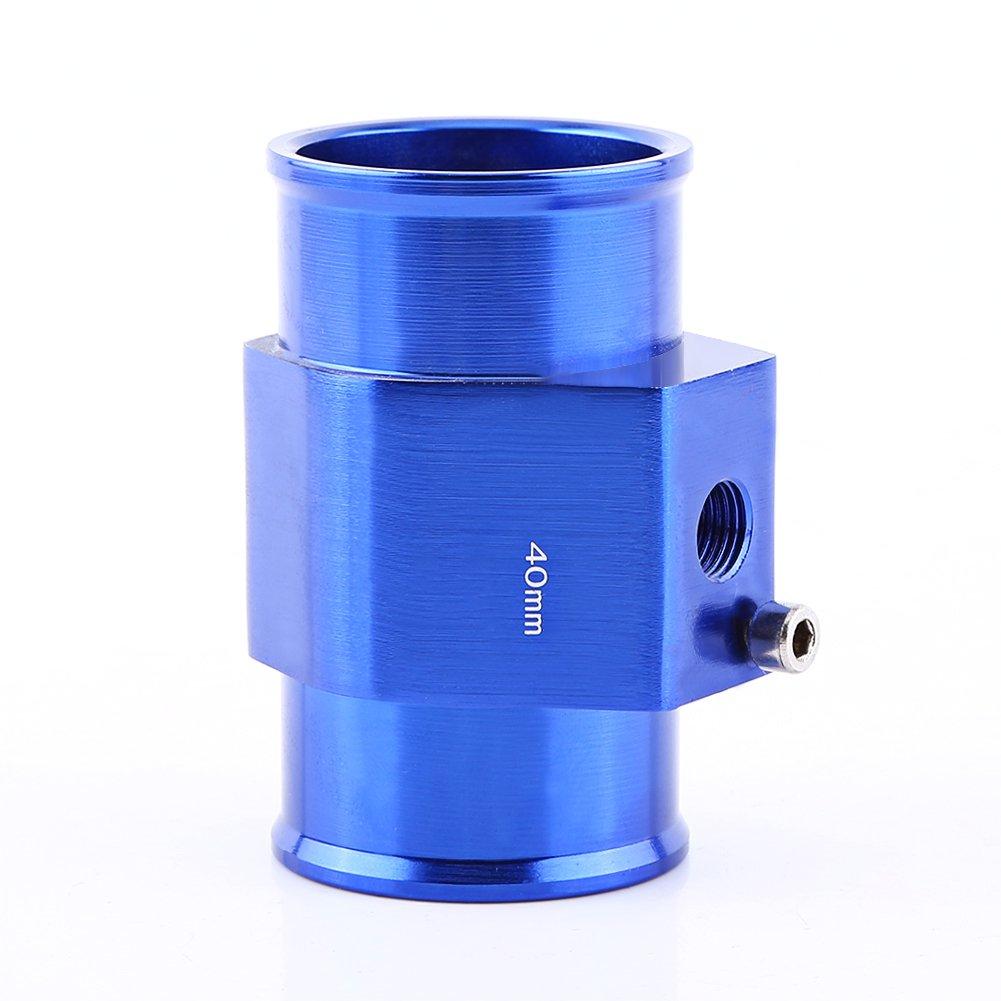 Universal Water Temp Joint Pipe Blue 26mm 34mm 40mm Keenso Aluminum Water Temp Temperature Joint Pipe Sensor Gauge Radiator Hose Adapter