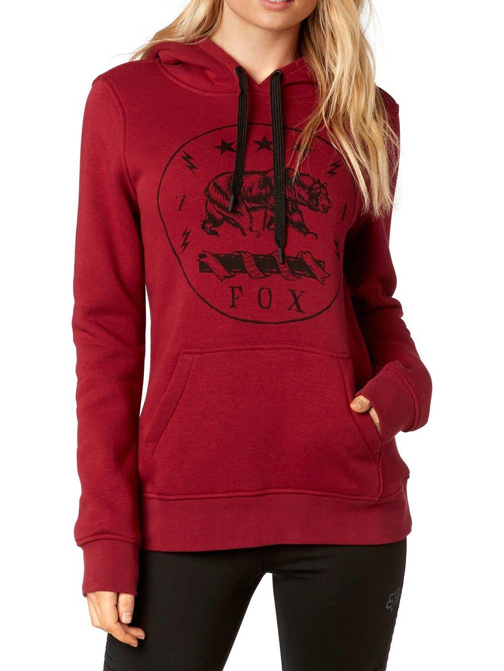 Fox Racing Womens Translunar Hoody Pullover Sweatshirts X-Small Dark Red
