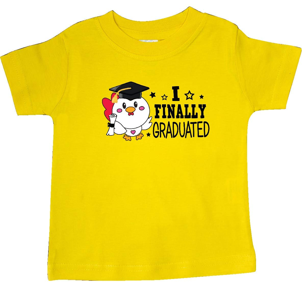 inktastic I Finally Graduated with Rooster in Graduation Cap Baby T-Shirt
