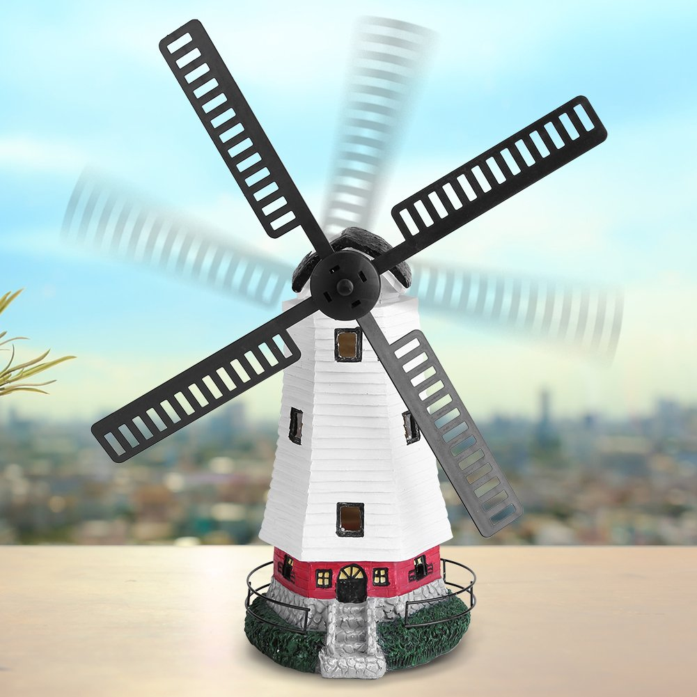 Estink Windmill Light,Decorative Solar Powered Rechargable LED Windmill Light Lamp for Outdoor Lawn and Garden D¨¦cor, Lawn Ornament