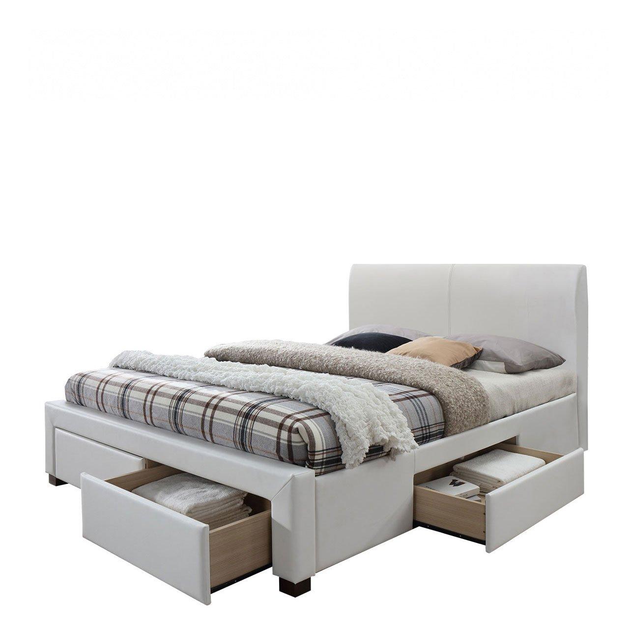 Mirjan24 Polsterbett Modena 2 mit 4 Schubladen, Elegante Bett mit Lattenrost, Ehebett, Doppelbett für Schlafzimmer, Schlafmöbel (Crato 01)