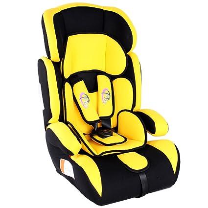 TecTake Silla de coche para niños - Grupos 1/2/3 pesos de 9-36 kg negro/amarillo