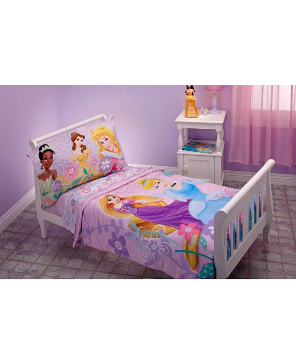 Design Princess Bedding amazon com disney princess 4 piece toddler bedding set rapunzel aurora belle cinderella baby