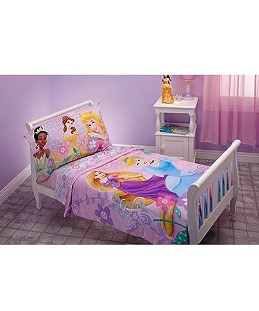 Disney Princess 4 Piece Toddler Bedding Set - Rapunzel, Aurora, Belle,  Cinderella
