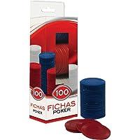 Novelty Equipo de Casino 100 Fichas Poker de Plástico