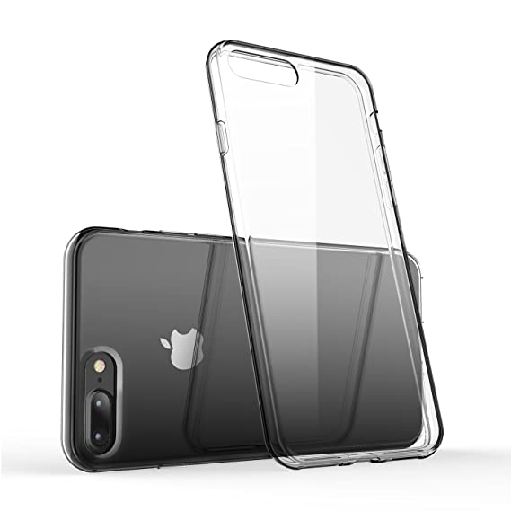 separation shoes efd09 39279 iPhone 7 Plus Clear Case/iPhone 8 Plus Clear Case, technext020 Shockproof  Ultra Slim Fit Silicone TPU Soft Gel Rubber Cover Shock Resistance ...