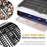 Commercial Countertop Lava Rock Charbroiler - KITMA