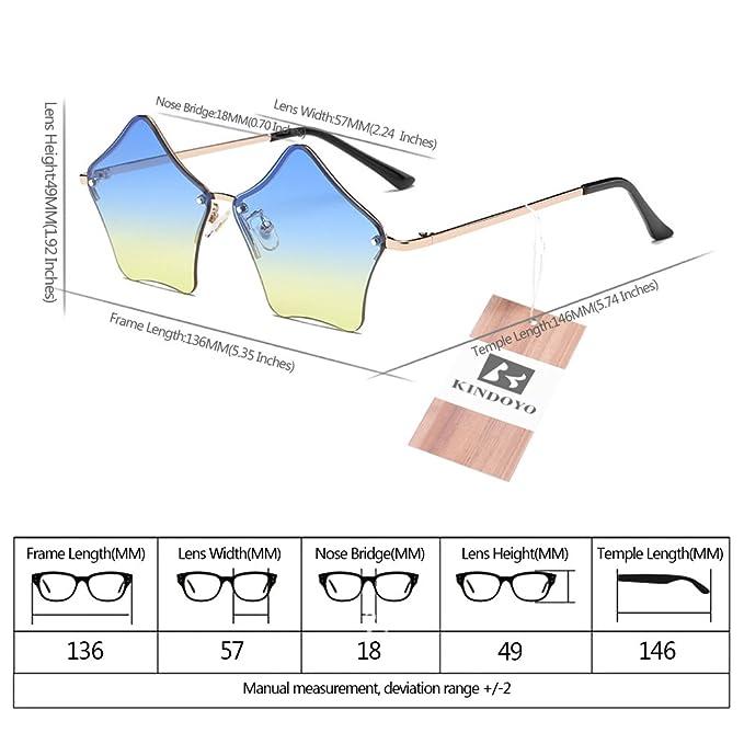 KINDOYO Mignon UV 400 Femmes Étoiles Forme Rétro Coloré lunettes de soleil   Amazon.fr  Vêtements et accessoires e00a153e8367