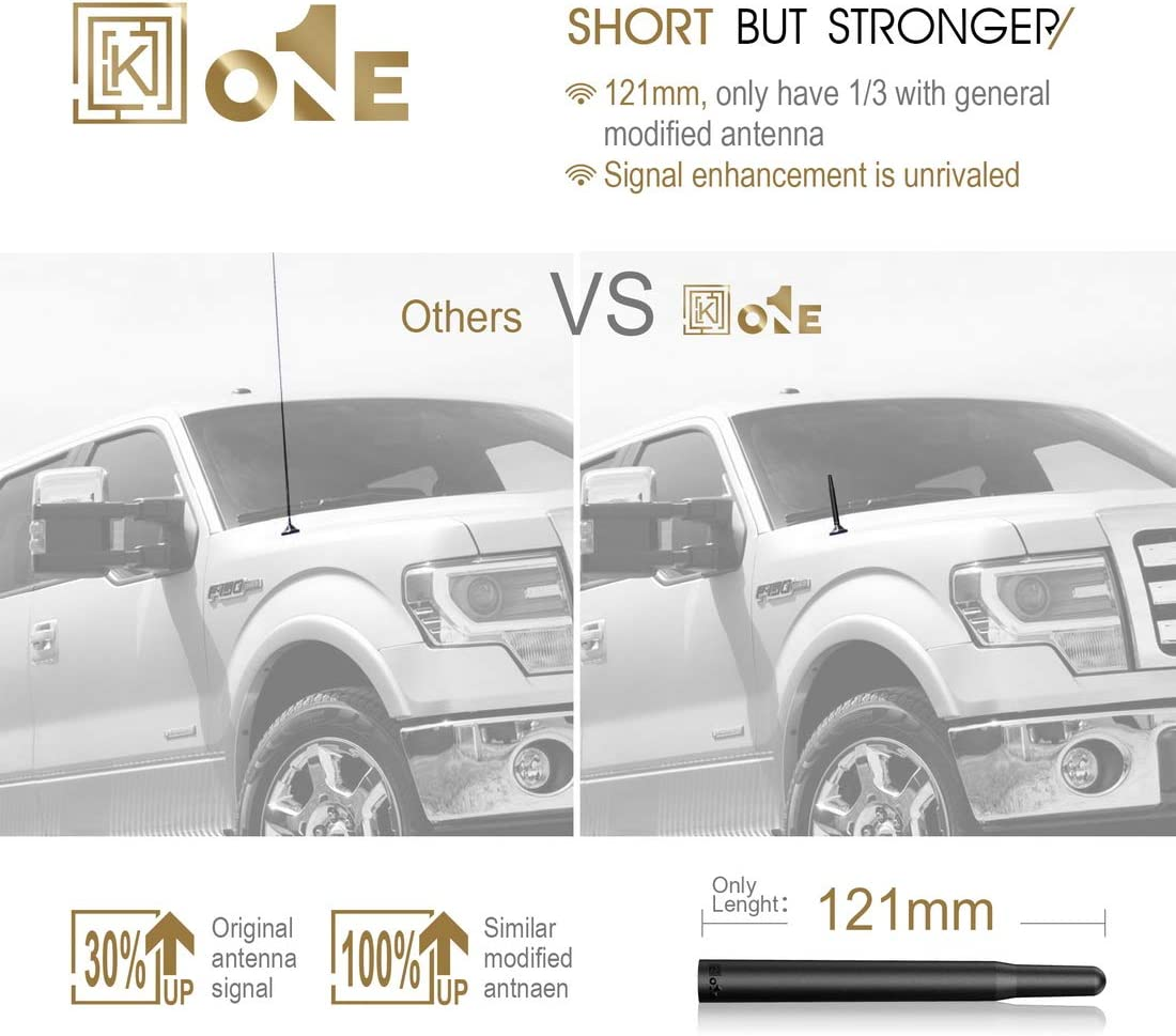 KEYO1E 4.8 AM//FM Radio Short Antenna Compatible with 07 to 2020 Jeep Wrangler JK JKU JL JLU
