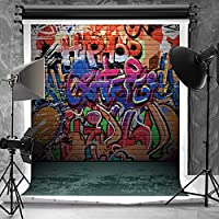 Kate 5x6.5ft(1.5x2m) Hip Hop Photography Backdrops for Photographers Teenager Fashion Wall Naughty Style Graffiti Photo Backdrop for Children J01804