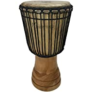 """Hand-carved Djembe Drum From Africa - 11""""x22"""" Classical Heartwood Djembe (Random Carving)"""