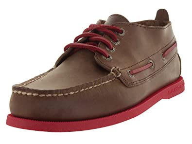 Sperry Top-Sider Men's Authentic Original Chukka Neon Dark Brown/Red Boat  Shoe 7