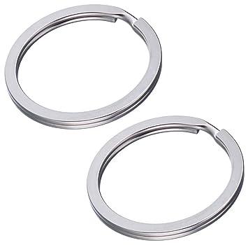 200 pieza Llave 30 mm de diámetro anillos plana acero endurecido & flachen Muelle Acero (extrafuerte) metal anillos Adecuado para llaveros & llavero ...