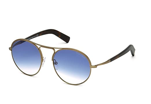 77f89be1f58 Image Unavailable. Image not available for. Color  TOM FORD FT0449 Jessie  Sunglasses Matte Gold w Blue Gradient (37W) ...
