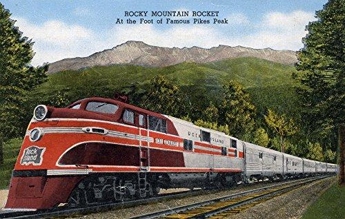 Pikes Peak, Colorado - Rocky Mountain Rocket Train (12x18 Art Print, Wall Decor Travel Poster) (Pikes Train)