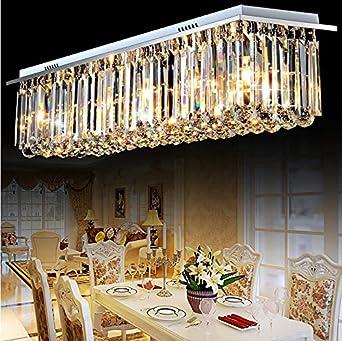 Siljoy modern rectangular clear crystal chandelier lighting rain siljoy modern rectangular clear crystal chandelier lighting rain drop ceiling lights l100 x w25 x h22 aloadofball Gallery