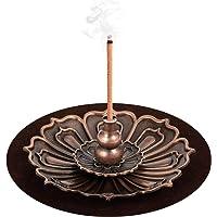 DK177 Brass Incense Sticks Holder Lotus Inscent Burner Disc for Resin Granular Powder Cone Coil Ash Catcher Cinnamon Organic Citronella