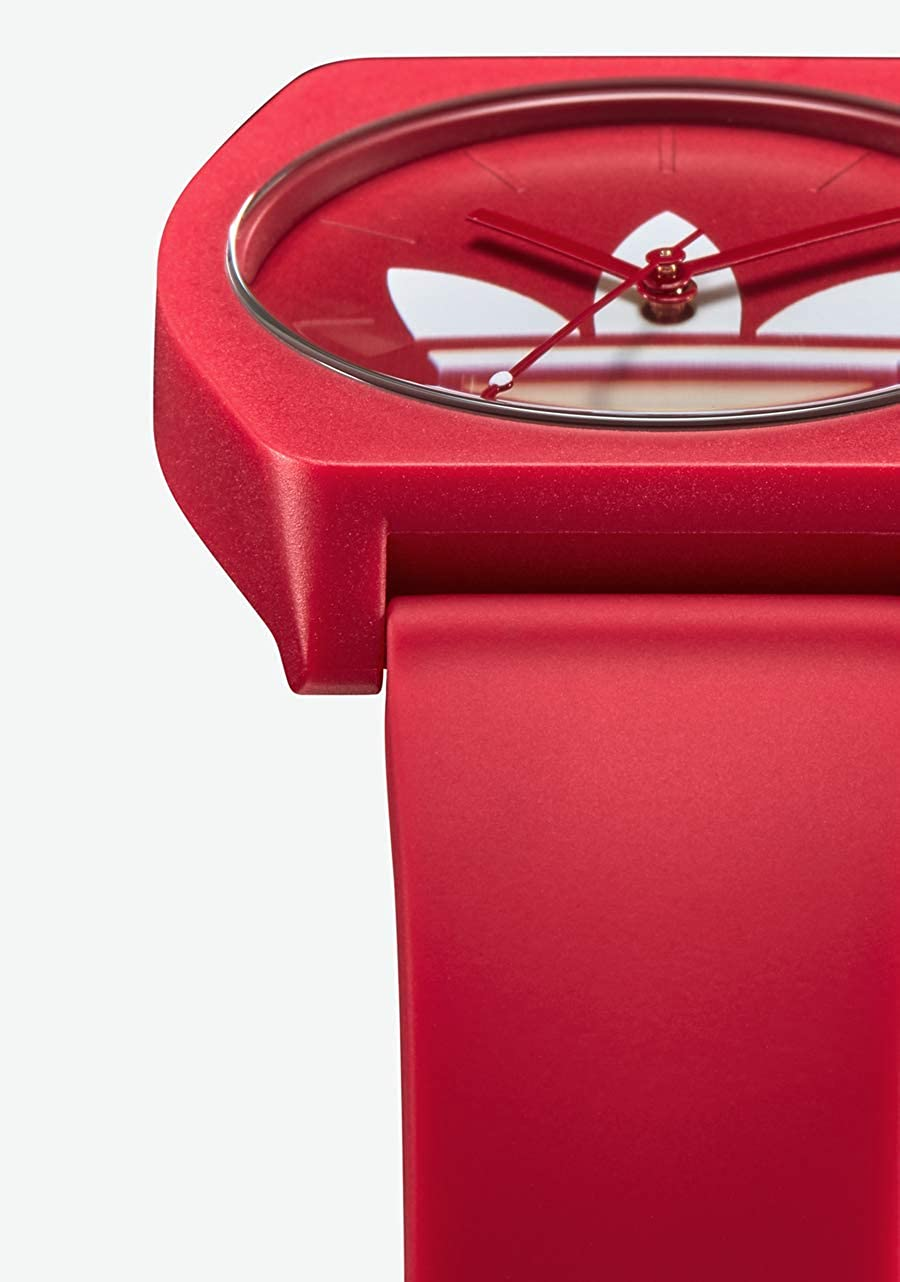 adidas Watches Process_SP1. Silicone Strap, 20mm Width (38 mm). Trefoil/Red