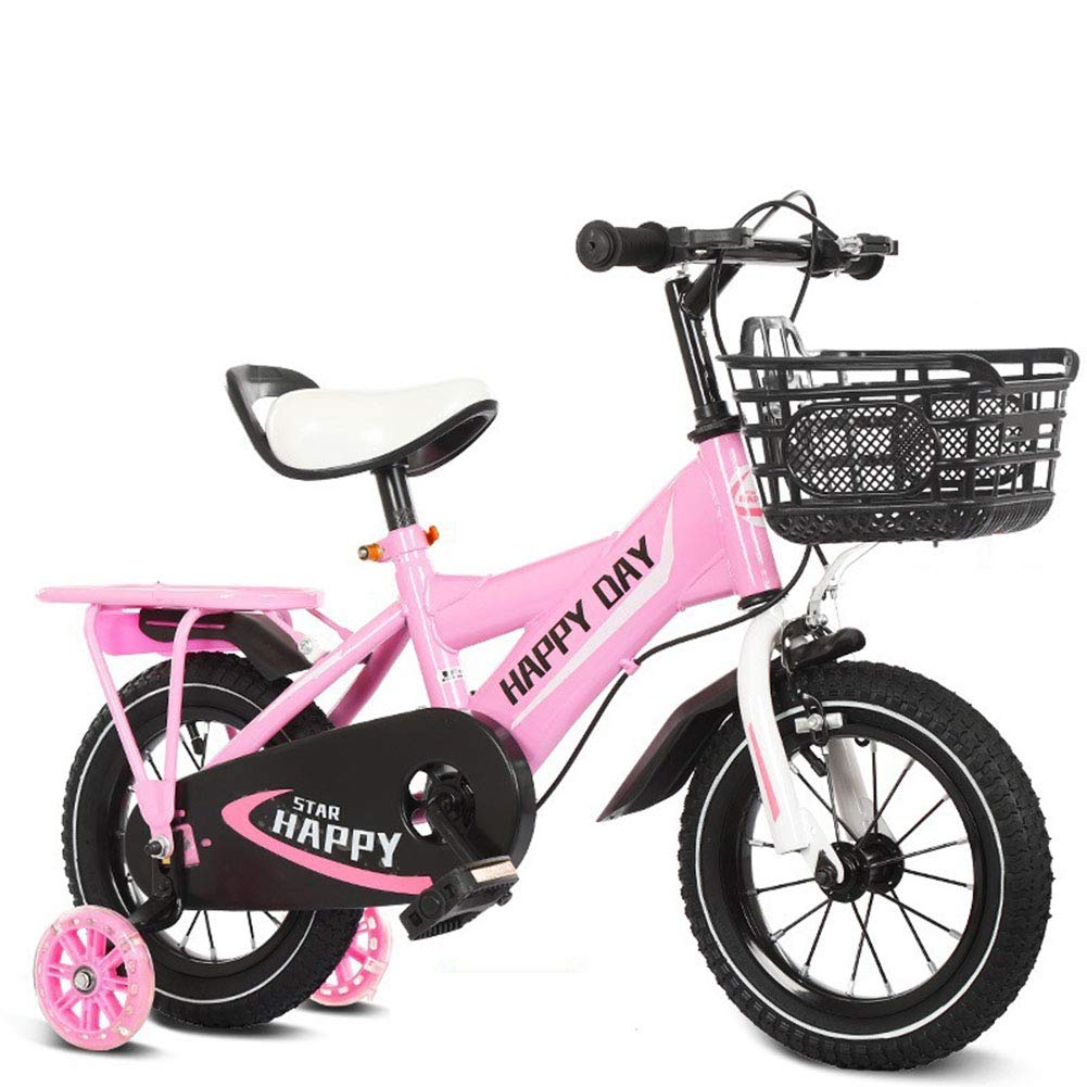 Pink A Bike Boys Girls Mountain Bicycle Adjustable Height Double Brake Kids Safety Damping 16 Inches 210 Years Old