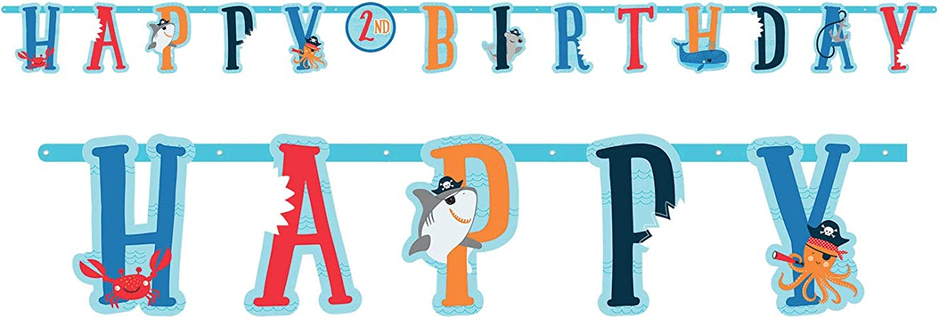 Amscan 122527 Pancarta con dise/ño de tibur/ón