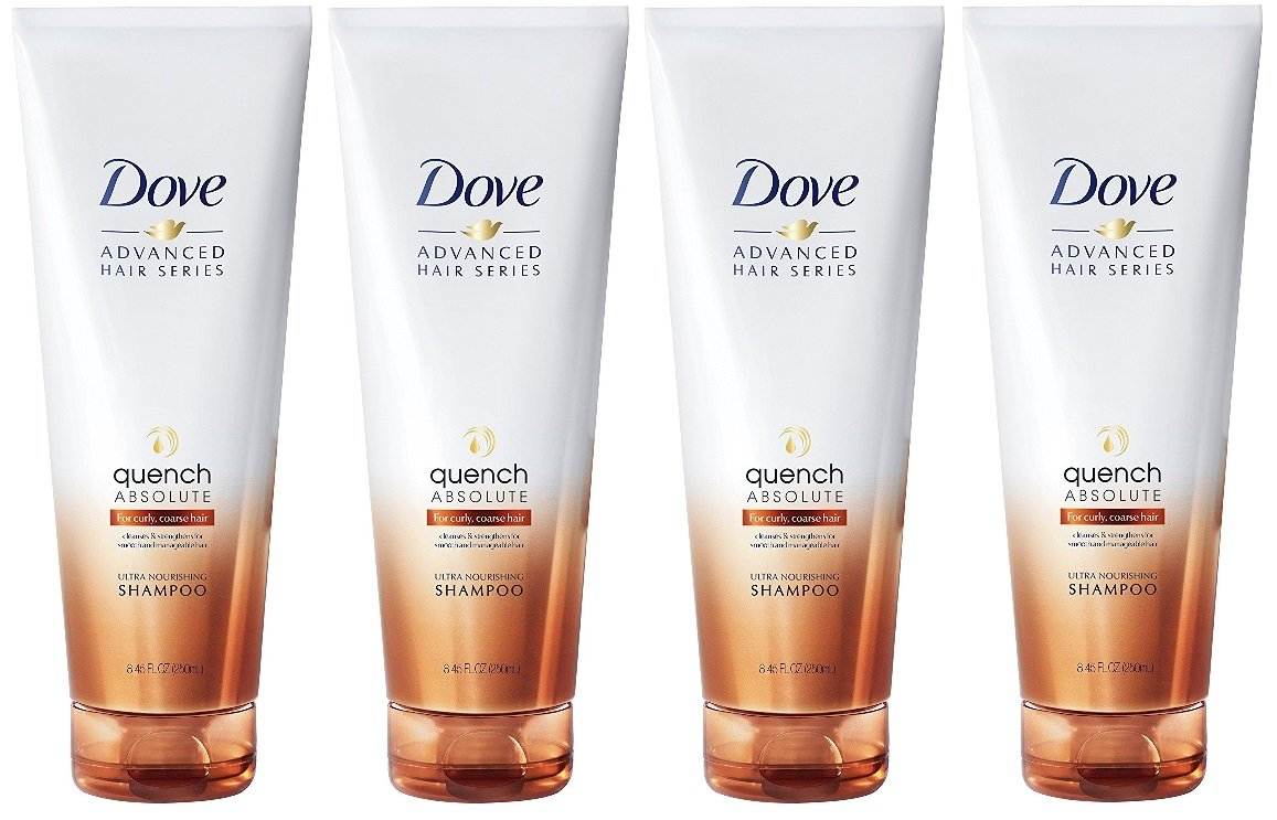 Dove Advanced Hair Series Shampoo, Quench Absolute Therapy 8.45 oz (4 pack)