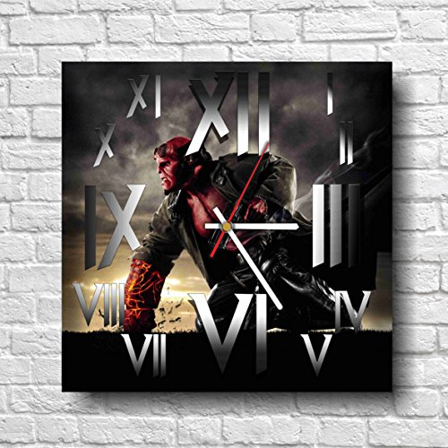 HELLBOY WONDERFUL HANDMADE WALL CLOCK - UNIQUE DESIGN - BE SPECIAL - THE BEST PRESENT made of plastic