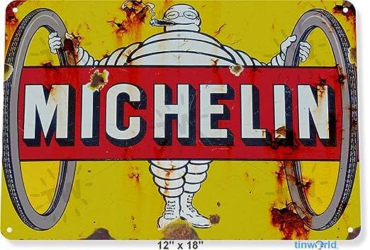 Tin Sign Michelin - Cartel metálico de Metal para Ruedas de ...