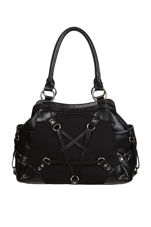 Banned Occult Illuminati Pentagram Star Symbol Handbag Faux Leather