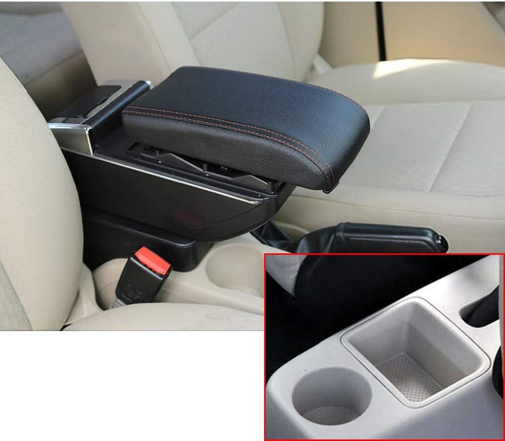Für 2008 2014 S Koda Fabia Luxus Auto Armlehne Mittelarmlehne Mittelkonsole Zubehör Eingebaute Led Licht Schwarz Auto