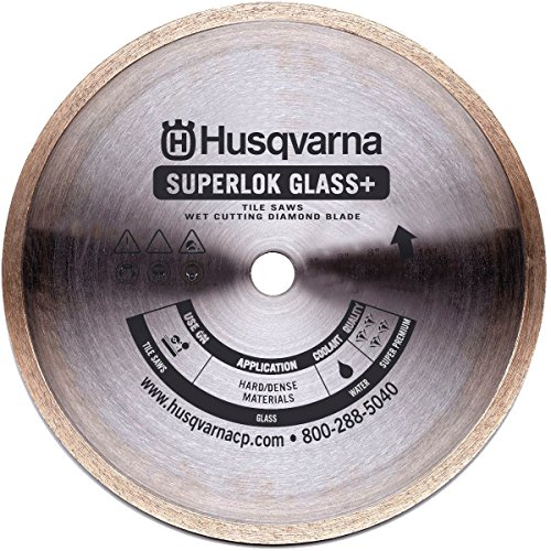 Husqvarna 542776618 Superlok Glass Plus Diamond Tile Blade, Gold 10-Inch x 5/8-Inch