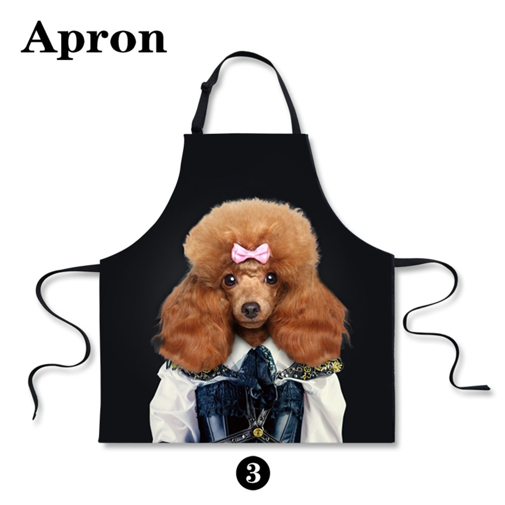 Personalized Black Bear Printing Backing Cooking Kitchen Men Women Aprons CHAQLIN S-C0204R