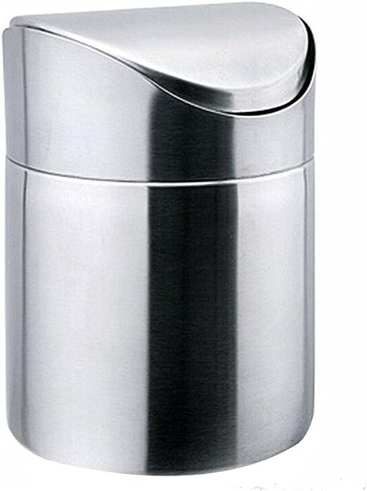 designerbox Mini papelera de mesa de acero inoxidable 1.5L ...