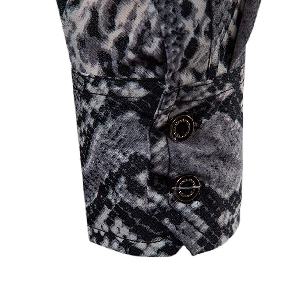 Coing Men Shirt Leisure European Style Geometric Pattern Printing Long Sleeve Shirts,A,XL