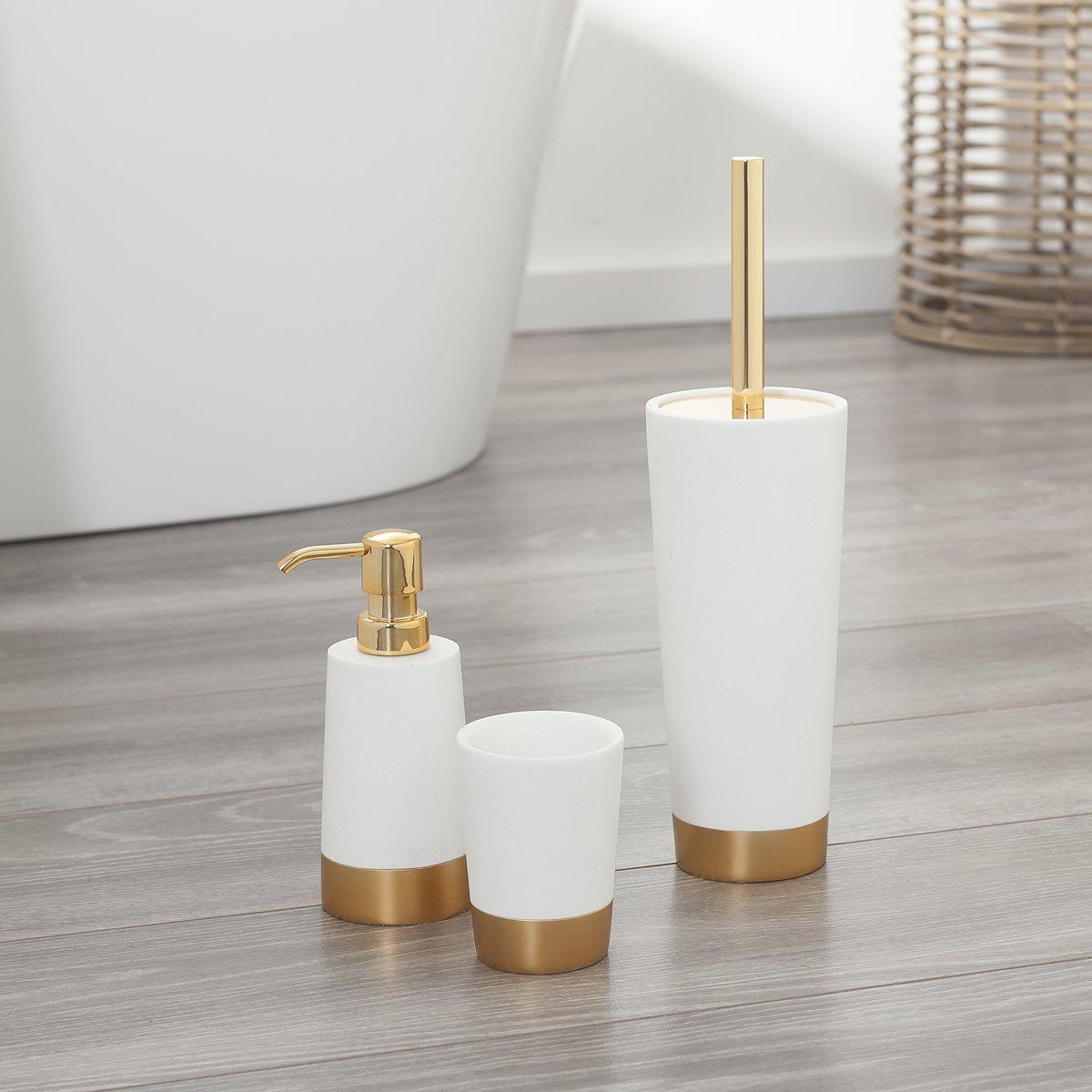 Argento Sealskin Glossy Scopino e Portascopino da WC Set 33,6 x 9,5 x 9,5 cm Poliresina