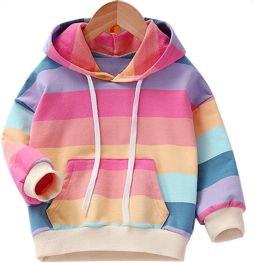 Julylee Girls Cotton Pink Sweatshirts Hoodie Dinosaur Printed Tops