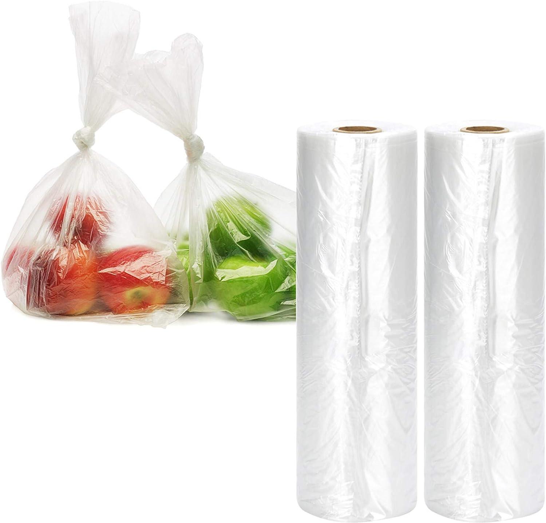 11X17 HDPE Clarity Plastic Produce Roll Bag Furit//Vegetables 3 Rolls