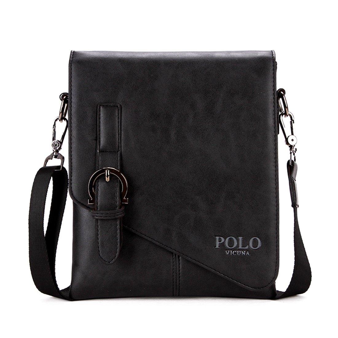 VICUNA POLO Men Shoulder Bag Messenger Bag Men Bag Crossbody Bag For ipad (black)