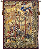 Tapestry, Extra Large, Tall - Elegant, Fine, French & Wall Hanging - La Joute, H70xW50