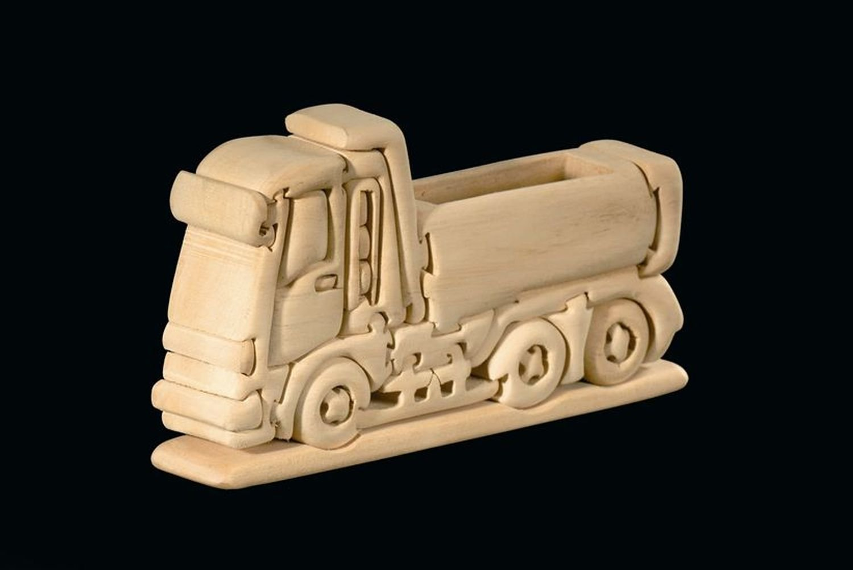 Lastwagen 3D-Puzzle in Naturholz - Dolfi