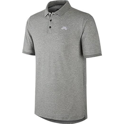 f2b059486 Nike SB Mens Pique Dri-Fit Polo Shirt Grey at Amazon Men's Clothing ...