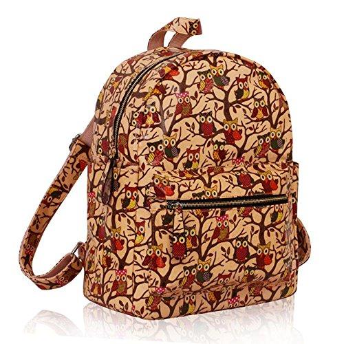 TrendStar - Bolso mochila  para mujer rojo E - Red B - Nude
