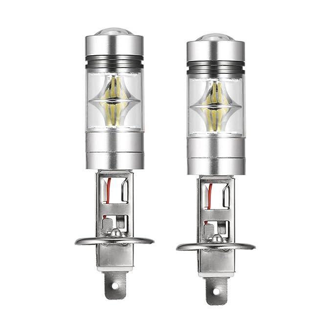 11 opinioni per Lampadine Fendinebbia H1 100W LED, Mesllin 20SMD High Power DRL Lampade fari