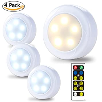 Amazon.com: LUNSY Wireless LED Puck Lights, Closet Lights 3AA ...