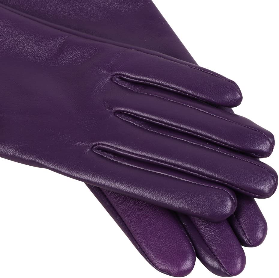 Women Leather Gloves Nappaglo Warm Lining Winter Leather Lambskin Gloves