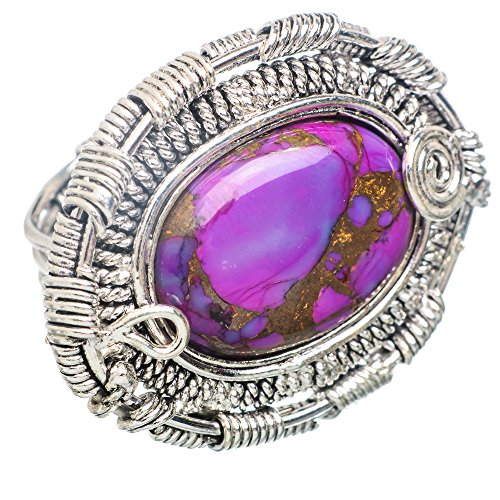 Ana Silver Co Large Purple Copper Composite Turquoise 925 Sterling Silver Ring Size 7 RING792407 (Ana Silver Co Purple compare prices)
