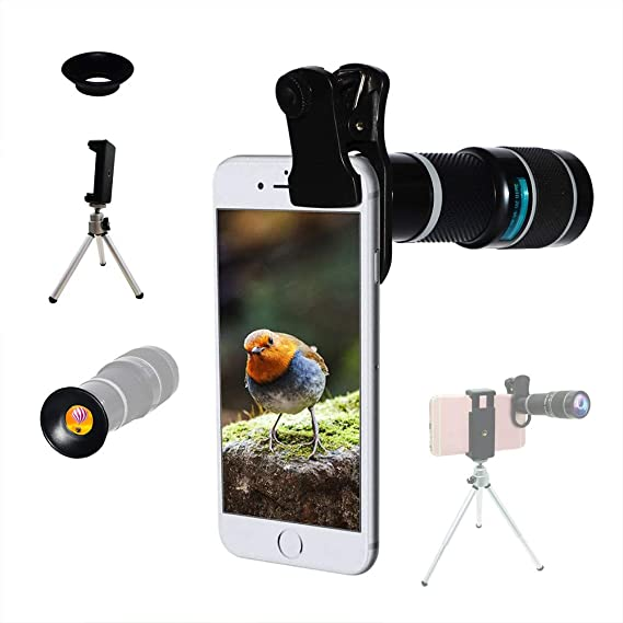 5da7233d083cc9 Cell Phone Camera Lens,Universal 20X Clip-On Zoom Telephoto Lens,Stronger  Phone