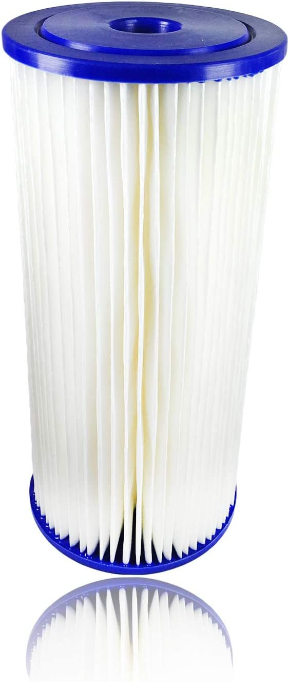 "Aquaboon 5 Micron 10"" Big Blue Pleated Sediment Water Filter Replacement Cartridge 