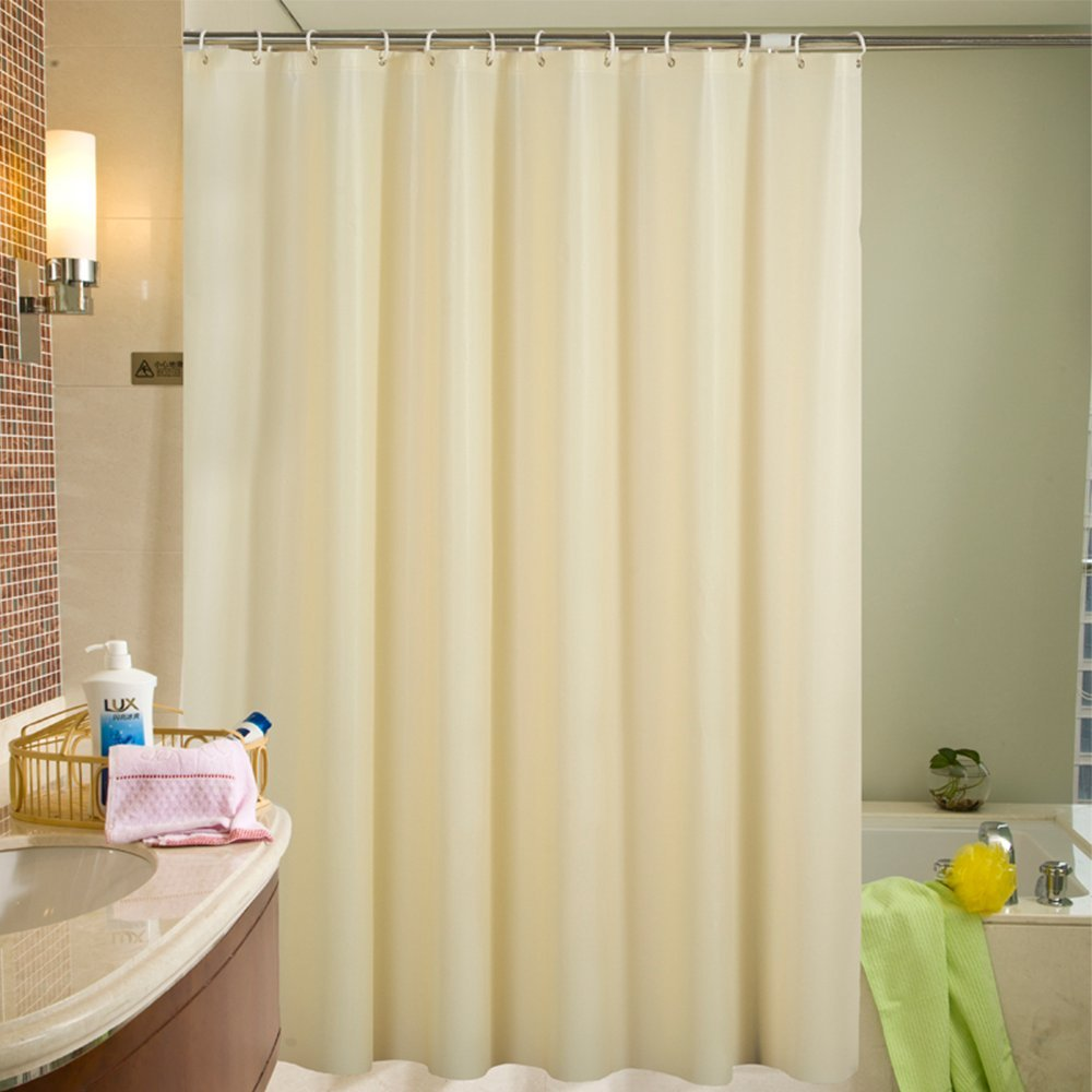Hotel PEVA Long Shower Curtain Liner, Water repellent, Mildew Resistant, Machine Washable, Beige Shower Curtain with 12 Grommets, 71(W) x 78(H) inches for Bathroom,Toilet Dressing Room by MEIWU (Image #6)