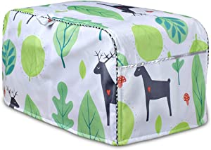 Convection Toaster Oven Cover,Bread Toaster Cover,Cover for air fryer with Large Pocket Compatible(Fallow Deer,Small)